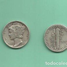 Monedas antiguas de América: MONEDA DE PLATA DIME 1944-D MONEDA DE 2,5 GRAMOS DE LEY 0,900. Lote 171814848