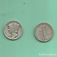 Monedas antiguas de América: MONEDA DE PLATA DIME 1944-S MONEDA DE 2,5 GRAMOS DE LEY 0,900. Lote 171815682