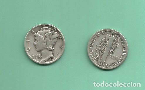MONEDA DE PLATA DIME 1939 MONEDA DE 2,5 GRAMOS DE LEY 0,900 (Numismática - Extranjeras - América)