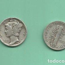 Monedas antiguas de América: MONEDA DE PLATA DIME 1939 MONEDA DE 2,5 GRAMOS DE LEY 0,900. Lote 171816289