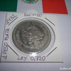 Monedas antiguas de América: UN PESO DE PLATA MEXICANO AÑO 1932. (E. B. C.). Lote 172112317