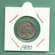 Monedas antiguas de América: USA: MONEDA DE 5 CENT 1930 CUPRONIQUEL. Lote 172117278