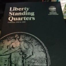 Monedas antiguas de América: USA ÁLBUM MONEDAS LIBERTY STANDING QUARTERS. Lote 172386362