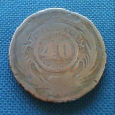 Monedas antiguas de América: 40 CÉNTIMOS 1857 URUGUAY. Lote 172532035