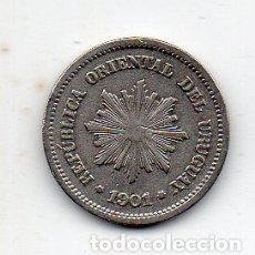 Monedas antiguas de América: URUGUAY. 1 CENTÉSIMO. AÑO 1901.. Lote 172622337