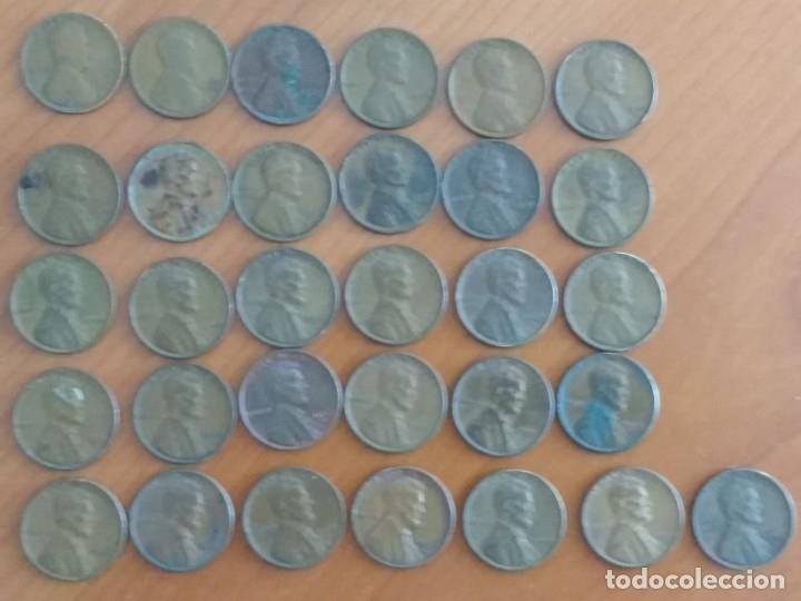 LOTE DE 31 MONEDAS DE UN CENTAVO DE DÓLAR (LINCOLN), FECHADAS ENTRE 1910 Y 1958 (Numismática - Extranjeras - América)