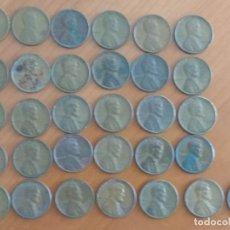 Monedas antiguas de América: LOTE DE 31 MONEDAS DE UN CENTAVO DE DÓLAR (LINCOLN), FECHADAS ENTRE 1910 Y 1958. Lote 172726305