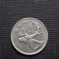 Monedas antiguas de América: CANADÁ 25 CENTS 1974 KM74. Lote 172862528