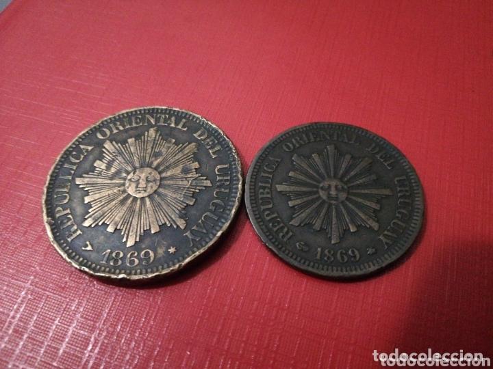 2 Y 4 CENTESIMOS 1869. URUGUAY. PRECIOSOS. (Numismática - Extranjeras - América)