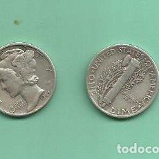 Monedas antiguas de América: MONEDA DE PLATA DIME 1945 MONEDA DE 2,5 GRAMOS DE LEY 0,900. Lote 173093060
