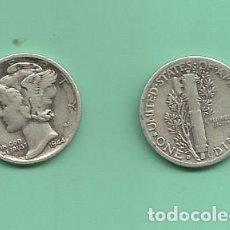 Monedas antiguas de América: MONEDA DE PLATA DIME 1944-D MONEDA DE 2,5 GRAMOS DE LEY 0,900. Lote 173093244