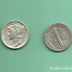 Monedas antiguas de América: MONEDA DE PLATA DIME 1943 MONEDA DE 2,5 GRAMOS DE LEY 0,900. Lote 173097629