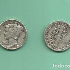 Monedas antiguas de América: MONEDA DE PLATA DIME 1942 MONEDA DE 2,5 GRAMOS DE LEY 0,900. Lote 173097838
