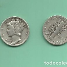 Monedas antiguas de América: MONEDA DE PLATA DIME 1939 MONEDA DE 2,5 GRAMOS DE LEY 0,900. Lote 173098135