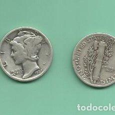 Monedas antiguas de América: MONEDA DE PLATA DIME 1937 MONEDA DE 2,5 GRAMOS DE LEY 0,900. Lote 173098278
