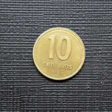 Monedas antiguas de América: ARGENTINA 10 CENTAVOS 1993 KM107. Lote 173482275