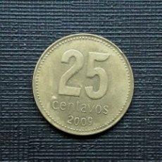 Monedas antiguas de América: ARGENTINA 25 CENTAVOS 2009 KM110A 9 CERRADO. Lote 206404853