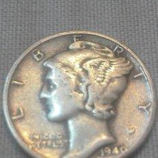 Monedas antiguas de América: MONEDA DE 1 DIME USA DE PLATA, DE 1940. Lote 173485113