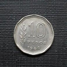 Monedas antiguas de América: ARGENTINA 10 PESOS 1964 KM60. Lote 173504127