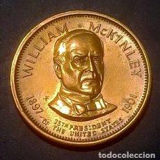 Monedas antiguas de América: 2 MEDALLAS PRESIDENCIALES DE LOS ESTADOS UNIDOS JAMES GARFIELD Y WILLIAM MCKINLEY. Lote 173538474