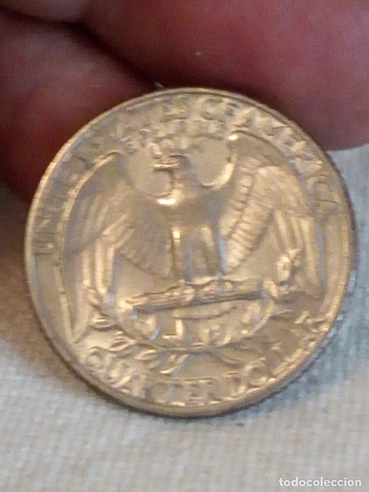 Monedas antiguas de América: moneda Cuarto de dollar 1965. U.S. - Foto 2 - 173575988