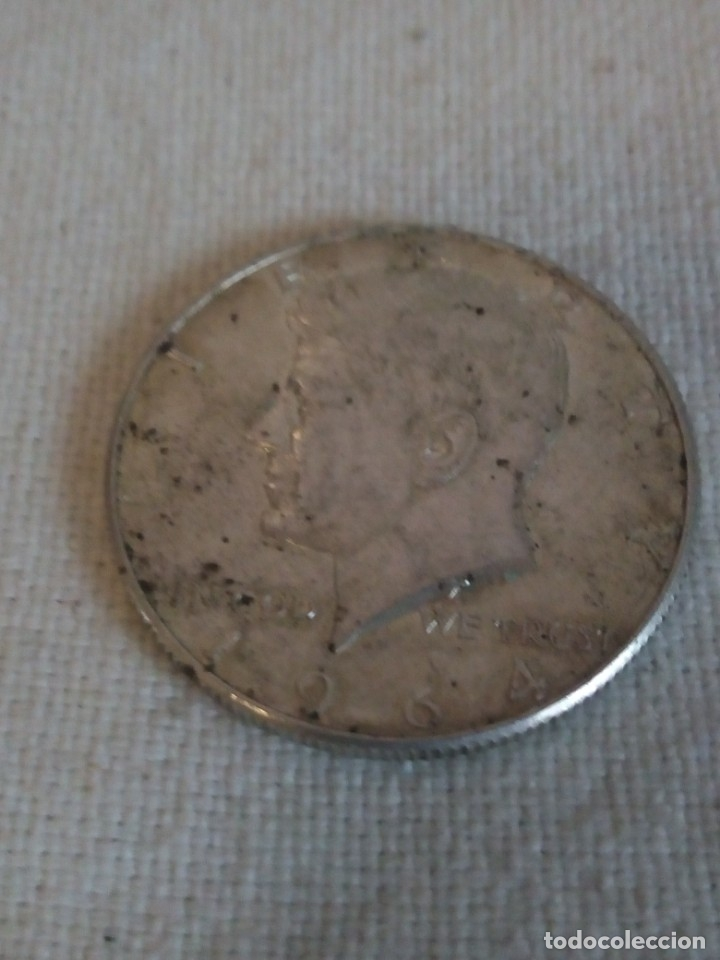 MONEDA LIBERTY 1964 HALF DOLLAR ,PLATA (Numismática - Extranjeras - América)