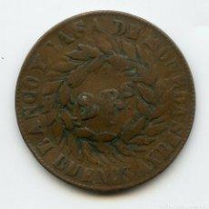 Monedas antiguas de América: ARGENTINA 2 REALES 1860 ABOLLADURA CENTRAL. Lote 173603155