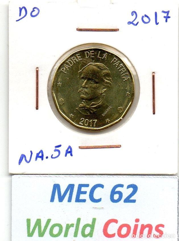 MEC 62 / REPUBLICA DOMINICANA 1 PESOS 2017 DUARTE (Numismática - Extranjeras - América)