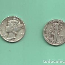 Monedas antiguas de América: MONEDA DE PLATA DIME 1945-D MONEDA DE 2,5 GRAMOS DE LEY 0,900. Lote 173895670