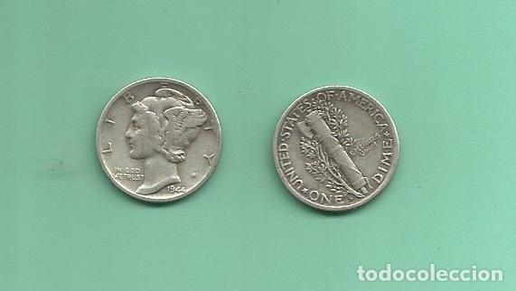 MONEDA DE PLATA DIME 1944-S MONEDA DE 2,5 GRAMOS DE LEY 0,900 (Numismática - Extranjeras - América)