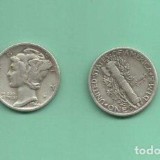 Monedas antiguas de América: MONEDA DE PLATA DIME 1944-S MONEDA DE 2,5 GRAMOS DE LEY 0,900. Lote 173895755