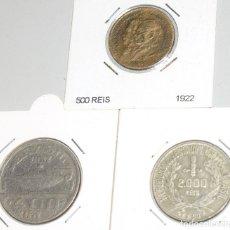 Monedas antiguas de América: BRASIL, 500 REIS 1922 - 2000 REIS 1930 - 400 REIS 1937 3 MONEDAS. Lote 173942225