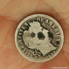 Monedas antiguas de América: 1907 ONE DIME EEUU CIRCULADA. Lote 174047034