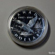 Monedas antiguas de América: 1 DOLAR DE PLATA DE CANADA DEL AÑO 1997.PROOF.PLATA DE LEY 925. Lote 174072793