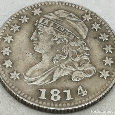 Monedas antiguas de América: RÉPLICA MONEDA 10 CENTS. 1814. ESTADOS UNIDOS DE AMÉRICA. USA. RARA. Lote 174253630