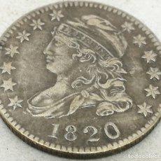 Monedas antiguas de América: RÉPLICA MONEDA 10 CENTS. 1820. ESTADOS UNIDOS DE AMÉRICA. USA. RARA. Lote 174253703
