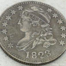 Monedas antiguas de América: RÉPLICA MONEDA 10 CENTS. 1823. ESTADOS UNIDOS DE AMÉRICA. USA. RARA. Lote 174253938