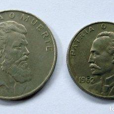 Monedas antiguas de América: CUBA.20 Y 40 CENTAVOS. AÑO 1962. Lote 174255915