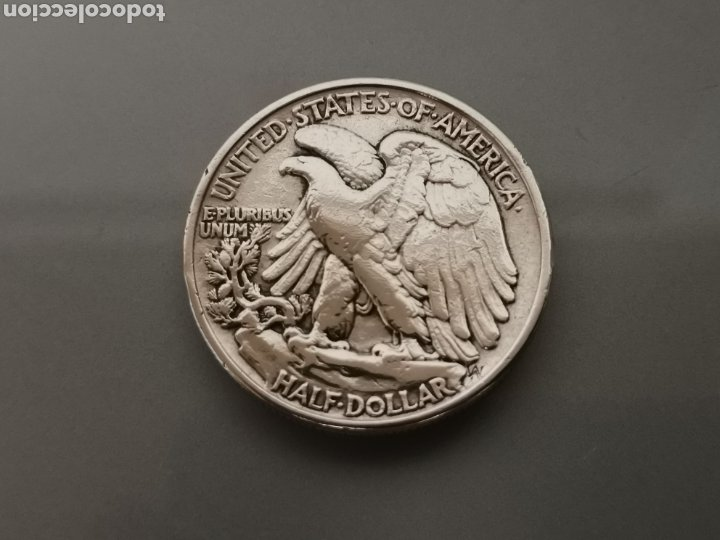 Monedas antiguas de América: MONEDA 1/2 HALF DÓLAR LIBERTY USA 1945 PLATA 900 - Foto 2 - 175614719