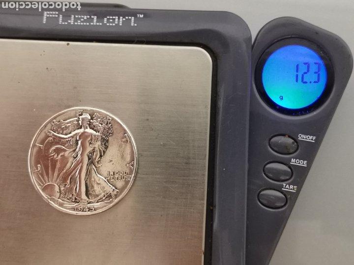 Monedas antiguas de América: MONEDA 1/2 HALF DÓLAR LIBERTY USA 1945 PLATA 900 - Foto 4 - 175614719