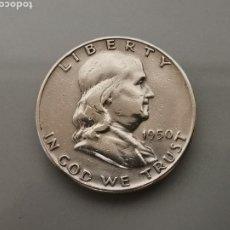 Monedas antiguas de América: MONEDA 1/2 HALF DÓLAR FRANKLIN USA 1950 PLATA 900. Lote 175619849