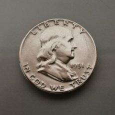 Monedas antiguas de América: MONEDA 1/2 HALF DÓLAR FRANKLIN USA 1951 PLATA 900. Lote 175620503