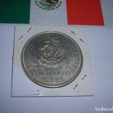Monedas antiguas de América: CINCO PESOS MEXICANOS DE PLATA, AÑO 1951 (HIDALGO). M.B.C.. Lote 175622319