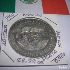 Monedas antiguas de América: DIEZ PESOS DE PLATA MEXICANOS, AÑO 1960 (HIDALGO Y MADERO). 150 ANIVERSARIO DE LA INDEPENDENCIA. EBC. Lote 175623409