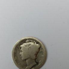 Monedas antiguas de América: ESTADOS UNIDOS 1 DIME PLATA 1929. MUY CIRCULADA. Lote 175687262