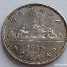 Monedas antiguas de América: MONEDA DE PLATA DE 1 DOLAR DE 1950 DE CANADA, ESCASA SOLO 261.002, JORGE VI DE INGLATERRA. Lote 175803547