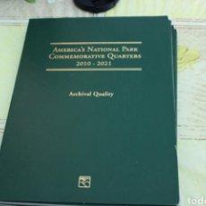 Monedas antiguas de América: ALBUM QUARTERS PARQUES NATURALES 2010-2021. Lote 175831338