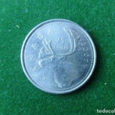 Monedas antiguas de América: MONEDA CANADA 25 CENTS 2007. Lote 176196832