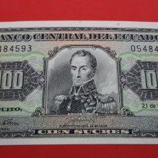 Monedas antiguas de América: 100 SUCRES 1994 ECUADOR S/C PLANCHA. Lote 176507884