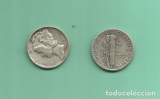MONEDA DE PLATA DIME 1944 MONEDA DE 2,5 GRAMOS DE LEY 0,900 (Numismática - Extranjeras - América)
